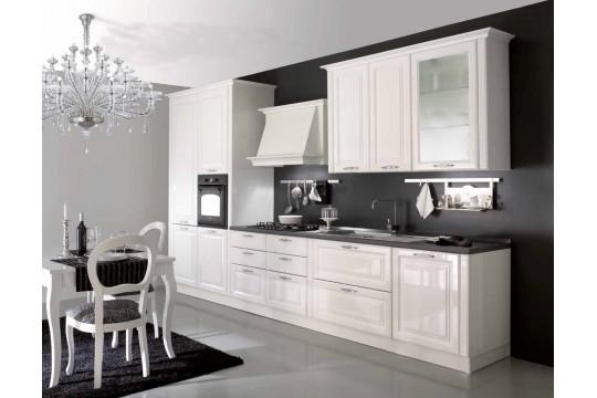 επιπλα κουζινας lubiana 22 bianco lucido