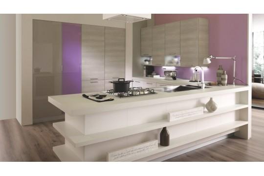 επιπλα κουζινας monza 22 bianco grigio frassino