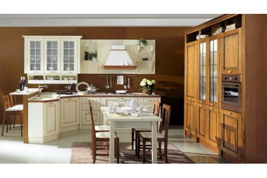 επιπλα κουζινας praga 24 castagno artico