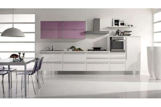 επιπλα κουζινας venezia 22 bianco lilla