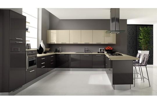 επιπλα κουζινας venezia 22 grigio tortora