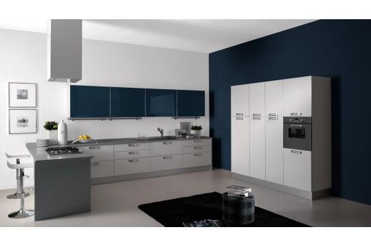 επιπλα κουζινας venezia 22 bianco blu