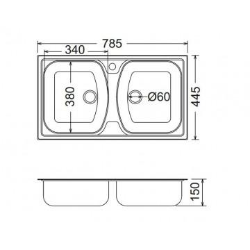FORTINOX SLENDER 24200 (78,5 x 44,5εκ.) ΛΕΙΟ