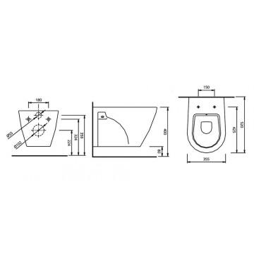 PYRAMIS ERETRIA (52x35,5 εκ.) ΛΕΚΑΝΗ ΚΡΕΜΑΣΤΗ + ΚΑΠΑΚΙ ΛΕΚΑΝΗΣ SOFT CLOSE