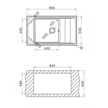 PYRAMIS STUDIO (86x50 εκ.) 1B 1D REV