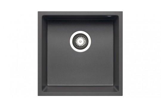 γρανιτενιος νεροχυτης pyramis pyragranite tetragon 34x40 1b iron grey