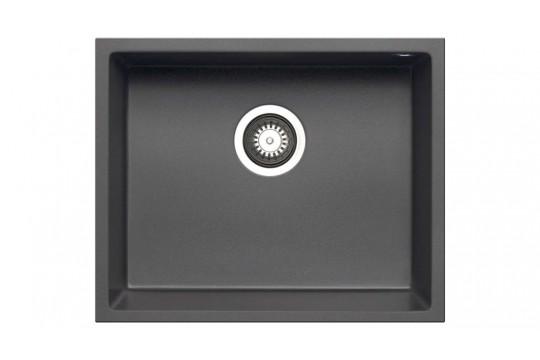 γρανιτενιος νεροχυτης pyramis pyragranite tetragon 50x40 1b iron grey