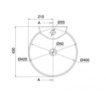 SCARABEO CONO/R 8010R (42x43 εκ.) ΧΕΙΡΟΝΙΠΤΗΡΑΣ ΠΟΡΣΕΛΑΝΗΣ