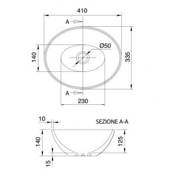 SCARABEO OVO 8011 (41x33,5 εκ.) ΝΙΠΤΗΡΑΣ ΕΠΙΤΡΑΠΕΖΙΟΣ