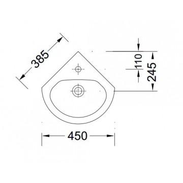 SEREL 6736 (38,5x38,5 εκ.) ΝΙΠΤΗΡΑΣ ΠΟΡΣΕΛΑΝΗΣ ΓΩΝΙΑΚΟΣ
