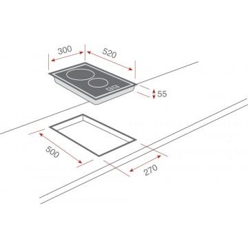 Teka VT CM 30 2P Κεραμική Εστία Domino