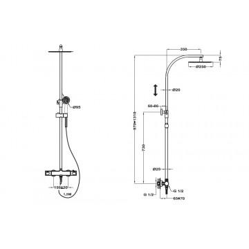 Teka Manacor Θερμοστατικό Σύστημα Ντους