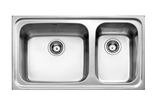 ανοξειδωτος νεροχυτης teka super bowl 86 2c max 86x50 leio